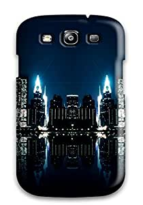New City Night Reflections Tpu Case Cover, Anti-scratch Phone Case For Galaxy S3