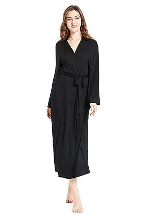 lantisan Modal Cotton Soft Robe for Women, Long Kimono Full Length ...