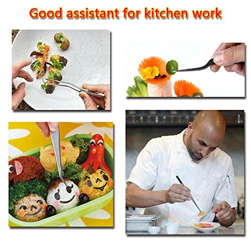 Rivoean Kitchen Cooking Tweezers Culinary,3 Piece Set