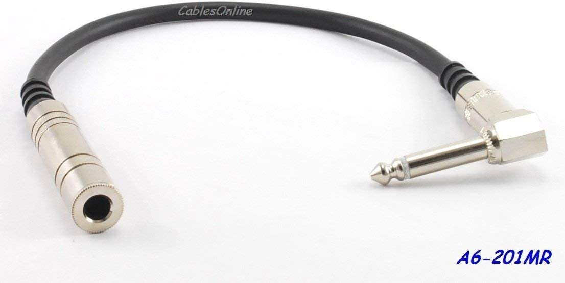 """6.3mm Female to Male Right-Angle Mono Audio Extension Cable 3ft Premium** 1//4/"""""""