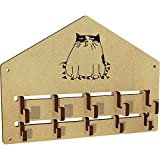 Azeeda 'Cute Cat' Wall Mounted Coat Hooks / Rack (WH00032981)