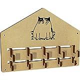 Azeeda 'Cute Cat' Wall Mounted Coat Hooks / Rack (WH00032981)
