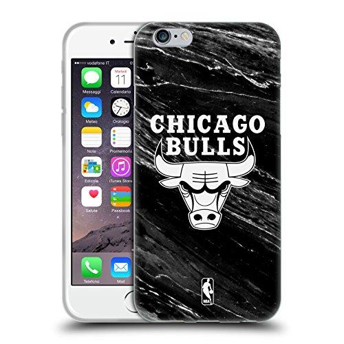 Officiel NBA B&W Marbre Chicago Bulls Étui Coque en Gel molle pour Apple iPhone 6 / 6s