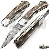 Custom Handmade Damascus Steel Hunting Folding Pocket Knife -Sword/Chef Kitchen Knife/Dagger/Full Tang/Skinner/Axe/Billet/Cleaver/Bar/Bowie/Kukri/knife accessories/survival/Camping With Sheath 9029
