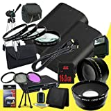 Two Canon EOS 70D DSLR Camera with 18-55mm STM f/3.5-5.6 Lens LP-E6 Lithium Ion Replacement Battery + 16GB SDHC Class 10 Memory Card + 58mm 3 Piece Filter Kit + Full Size Tripod + 58mm Macro Close Up Kit + 58mm 2x Telephoto Lens + 58mm Wide Angle Lens + C