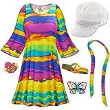 Rainbow Gogo Dancer Plus Size Halloween Costume Basic Kit 3x/Regular