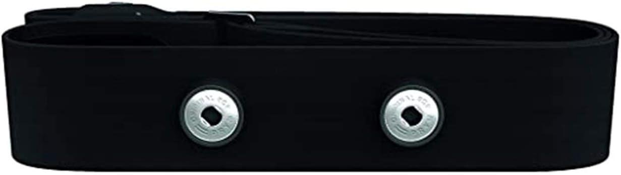 SZXCX Cinturón de monitoreo de frecuencia cardíaca Deportes al Aire Libre Cinturón de Tela Suave Cinturón Conductor de frecuencia cardíaca Se Puede Personalizar - Negro