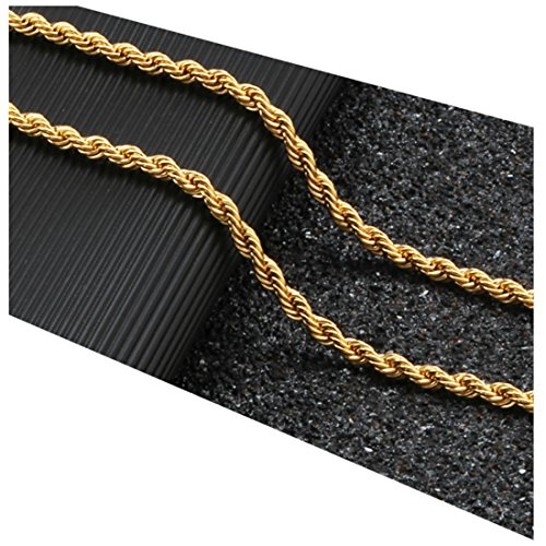 Cut Swag - Gold Chain Necklace 24K Real Diamond Cut Gold Filled 5mm Rope Chain USA Made! Life Time Waranty (28)