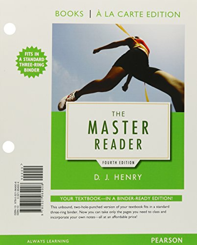 The Master Reader  Books A La Carte Edition Plus Mylab Reading With Etext   Access Card Package  4Th Edition