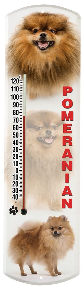 Heritage America by MORCO 375POM Pomeranian Outdoor or Indoor Thermometer, 20-Inch