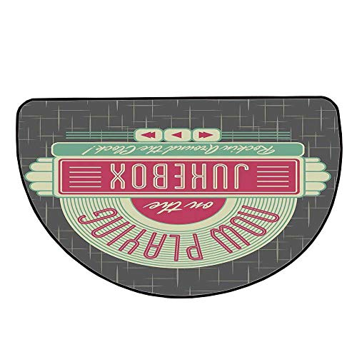 Jukebox Comfortable Semicircle Mat,Charcoal Grey Backdrop for sale  Delivered anywhere in USA