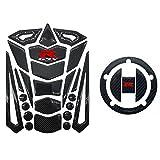 (US) Real Carbon Fiber 3D Sticker Vinyl Decal Emblem Protection Gas Tank Pad & Cap Cover For SUZUKI Gixxer GSXR 600 750 2006-2016 / GSXR1000 2007-2008 GSXR1300 Hayabusa 2008-2016