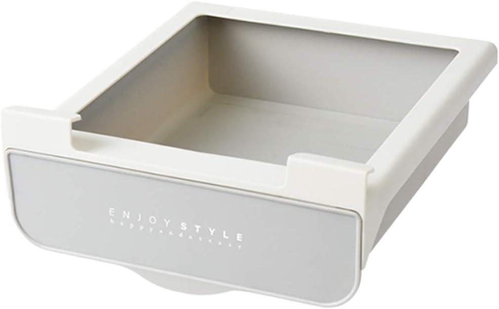 Under Desk Drawer Organizer Shelf Tray for Desk Easy Slide Out Drawer for Office and Kitchen (White)