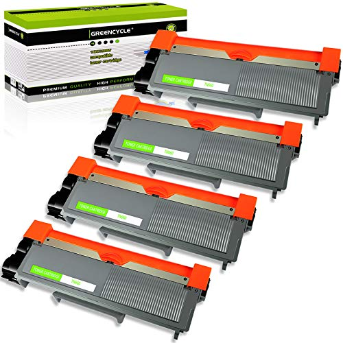 GREENCYCLE 2600 Pages per Toner Cartridge Replacement Compatible for Brother TN660 TN-660 Used in DCP-L2520DW DCP-L2540DW HL-L2380DW MFC-L2685DW MFC-L2740DW (Black, 4-Pack) -  GREENCYCLE TECH INC, M-TN660-4PK-0113