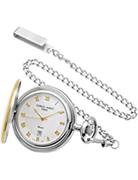 Sterling Silver Two-Tone Pocket Watch