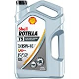 Automotive : Shell ROTELLA T5 15W-40 Synthetic Blend Diesel Engine Oil, 1 Gallon