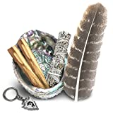 Smudge Kit - Sage, Palo Santo, Abalone Shell, Feather & More! Healing, Purifying, Meditating & Incense