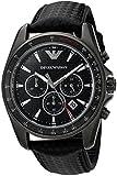 Emporio Armani Men's AR6122 Sport Black Leather Quartz Watch