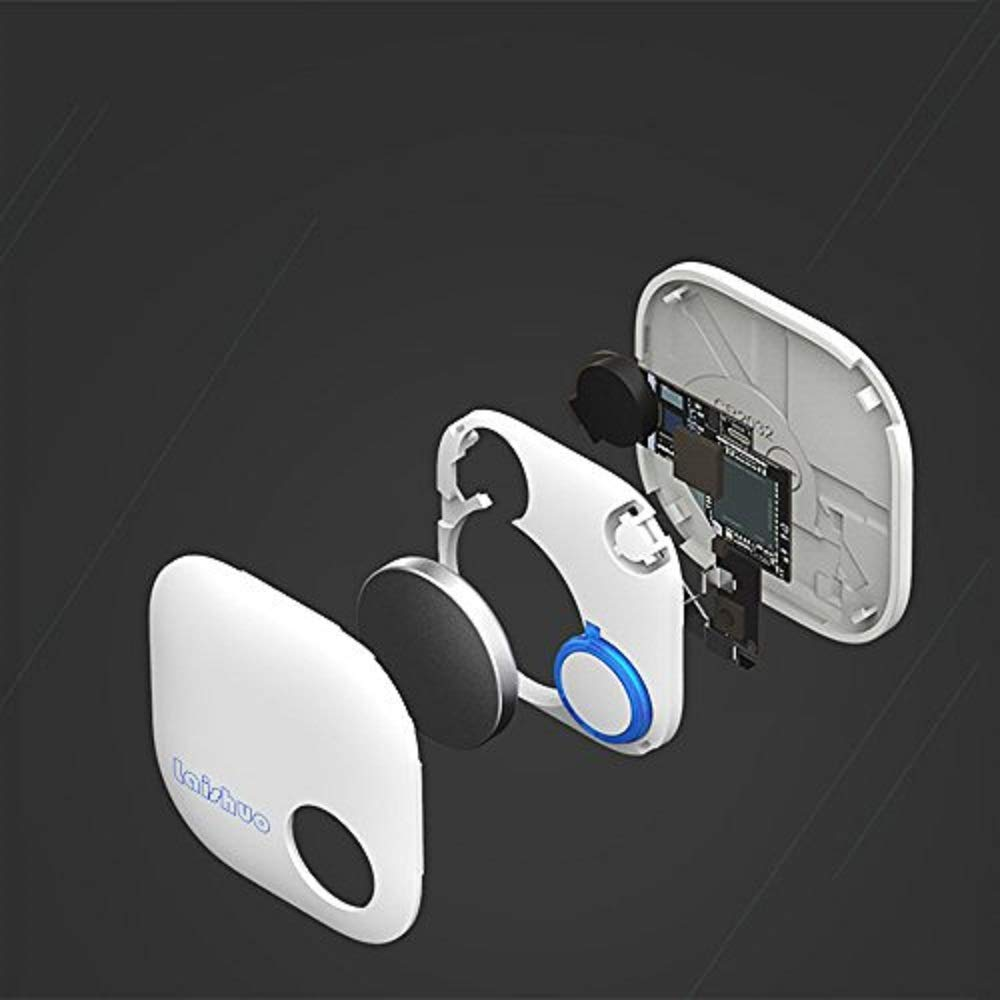BL005/_01 Bluetooth Keys Tracker Bari Key Finder Tracking Wallet Key Bag Pet Dog Tracer Locator Alarm Patch GPS Locator for iOS//iPhone//iPod//iPad//Android Bluetooth Tracker White