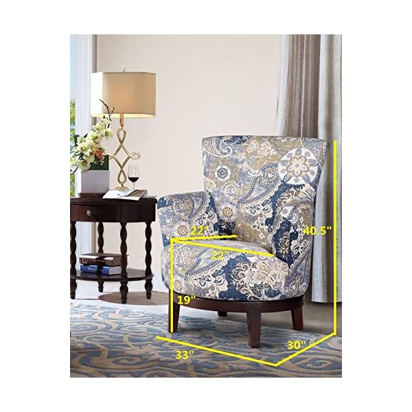 NHI Express Zoey Swivel Flower Accent Chair (1 Pack), Multicolor