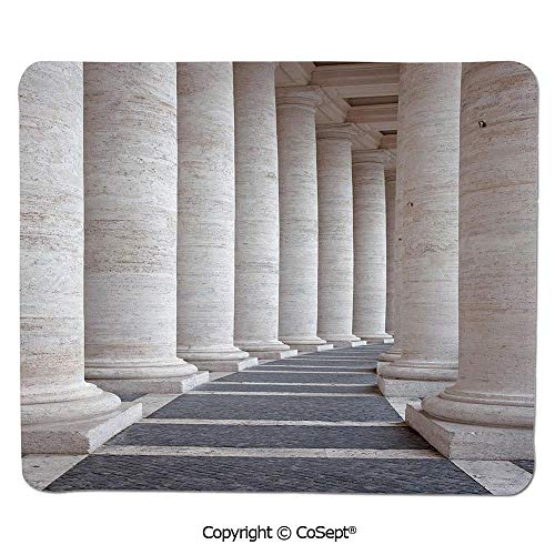 - Ergonomic Mouse pad,Ancient Theme Roman Columns Stone Pillars Old Architecture Digital Image,Dual Use Mouse pad for Office/Home (11.81