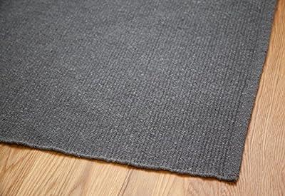Solid Grey Hand-Woven Washable Flatweave Eco Cotton Rug