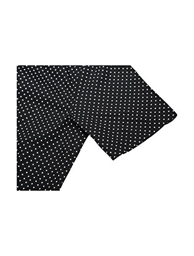 Uxcell K Allegra Hommes Courts Points Manches Allover Bouton Coton Imprimé Vers Le Bas Chemise Noire