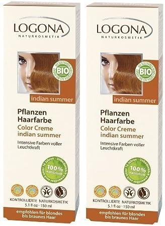 Color De Pelo De Crema De Color Henna De Logona Tintura de ...