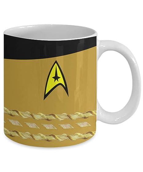 Amazon.com: Taza de café Star Trek TOS – Muestra tu capitán ...