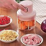 grofly Electric Mini Garlic Chopper, 250ml Wireless Portable Onion Chopper, Mini Chopper Food Processor for Garlic…