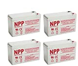 NPP High Rate HR1234W FR 12V 34W(15min.rate) SLA UPS 12V 9Ah Battery With F2 Style Terminals/(4pcs)