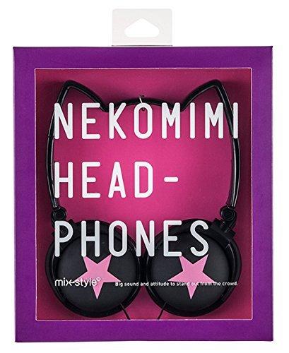Mix style NEKOMIMI HEADPHONES Star Black/Pink NH007 cat ear headphones