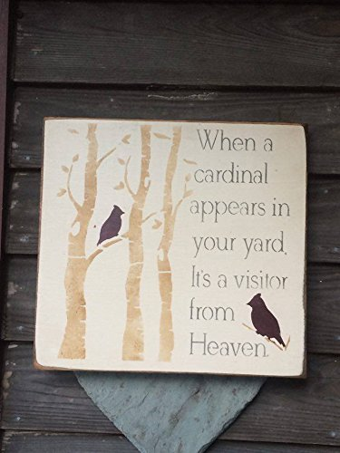 Handmade Cardinal Wooden Rustic Sign, Primitive Sign, Cardinal Sign (Primitive Wooden Sign)