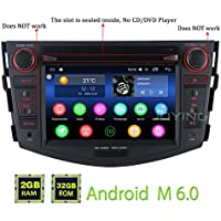 JOYING for Toyota RAV4 2006-2011 Double Din 7 inch 2GB Intel Quad Core Android 6.0 Car Stereo Radio Support Bluetooth WiFi GPS Touch Screen Head Unit Indash Auto Audio Receiver