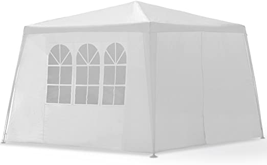 Tonnelle de jardin NEW YORK Pavillon 3x3m 2 fenêtres Porte ...
