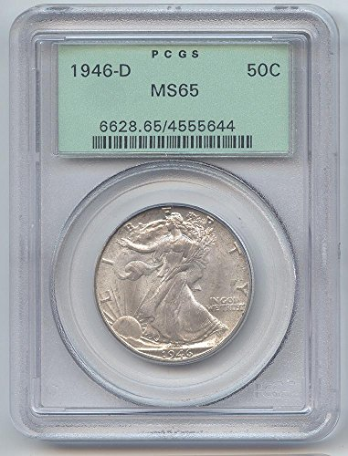 1946 D Walking Liberty Half Dollar MS-65 PCGS