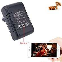 Zarsson WiFi AC Charger/Adapter Mini Spy Camera Nanny Cam with Motion Activated Video and Audio Recording for Home Security & Surveillance Support IOS Android Smartphone APP(a Free 8G Micro SD Card)