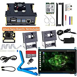 Makeronics Developer Kit for Jetson Nano -7inch Touch| IMX 219-77 Camera with Case| 64GB Class 10 TF Card with Card…