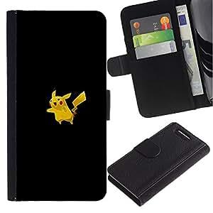 """A-type (Meter Monstruo lindo Amarillo"""") Colorida Impresión Funda Cuero Monedero Caja Bolsa Cubierta Caja Piel Card Slots Para Sony Xperia Z3 Compact / Z3 Mini (Not Z3)"""