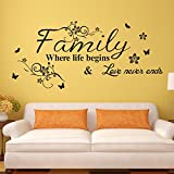 EMIRACLEZE Christmas Gift Holiday Shopping Warm and Sweety Family Love Removable Mural Wall Stickers Wall Decal for Living Room Home Decor Picture