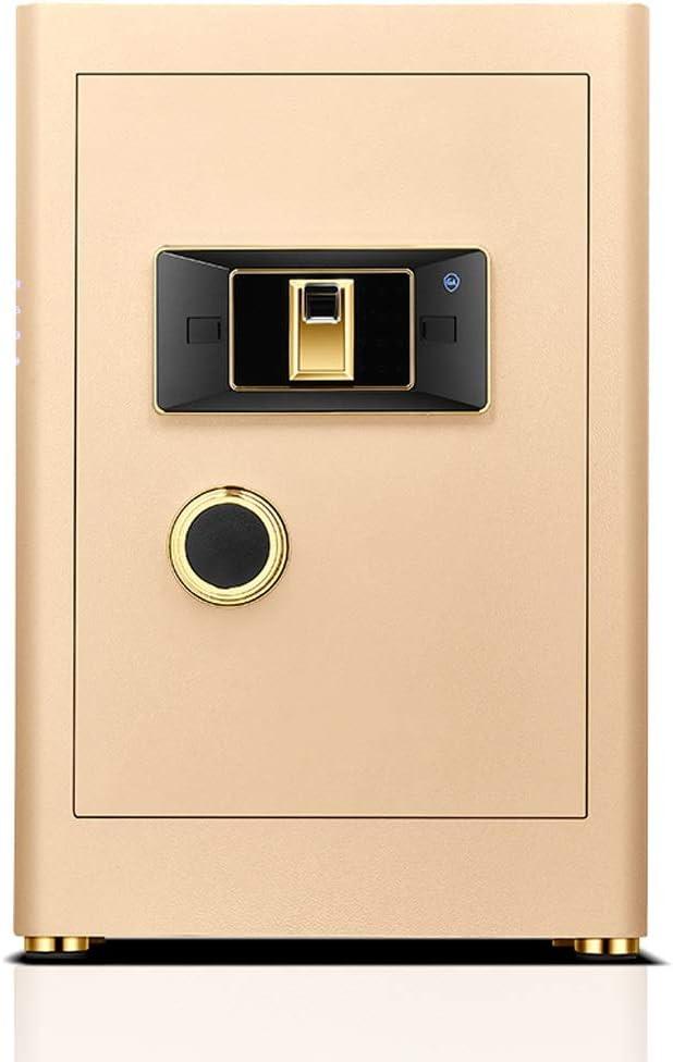 キーボックス、金庫小型家庭用、目に見えないミニ耐火45/60センチメートル指紋パスワードセーフティボックス、オールスチール製盗難防止ワードローブ安全、使用さへのストアジュエリー現金貴重品 (Color : Gold, Size : 60cm)