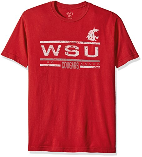 NCAA Washington State Cougars Men's Dyed Tee, Cardinal, - Cougars State Washington Tailgate