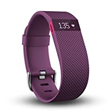 "Fitbit Charge HR Wireless Activity Wristband, Plum, Large (6.2 - 7.6"")"