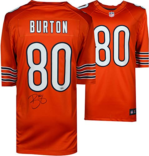 Trey Burton Chicago Bears Autographed Nike Orange Game Jersey - Fanatics Authentic Certified - Autographed NFL Jerseys