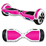 MightySkins Skin Compatible with Hover Board Self Balancing Scooter Mini 2 Wheel x1 Razor wrap Cover Sticker Solid Hot Pink