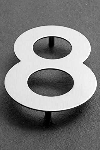 XAPTOVi XL Rostfrei Hausnummernschild // Hausnummern Dutch Quality Hausnummer 2 aus Edelstahl 15 cm