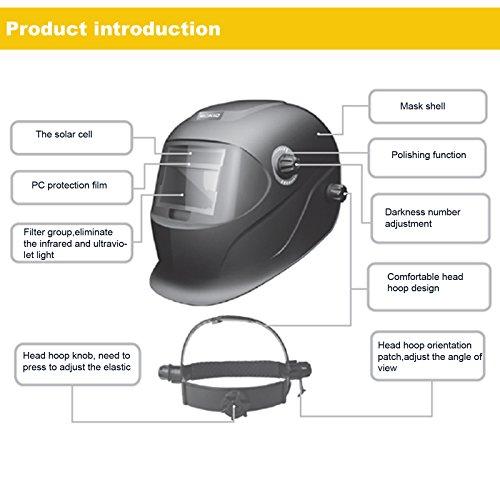 Coocheer Solar Arc Tig Mig Auto-Darkening Welding Helmet/Hood MIG TIG ARC Professional Mask by Coocheer (Image #5)