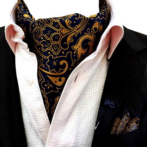 ral Ascot Jacquard Woven Casual Cravat Tie Pocket Square Set ()