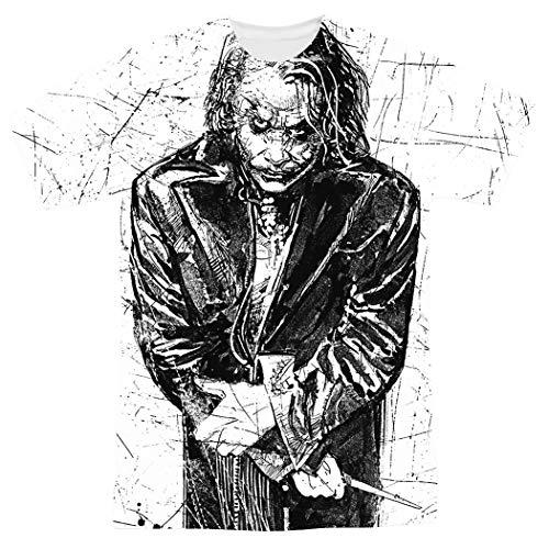 Popfunk The Dark Knight Heath Ledger Sketchy Joker T Shirts & Exclusive Stickers -