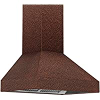 Z Line 8667E-30 900 CFM Wall Mount Range Hood with Embossed Copper Finish, 30